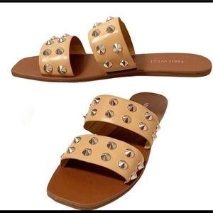 Nine West Silver Studded Sandals